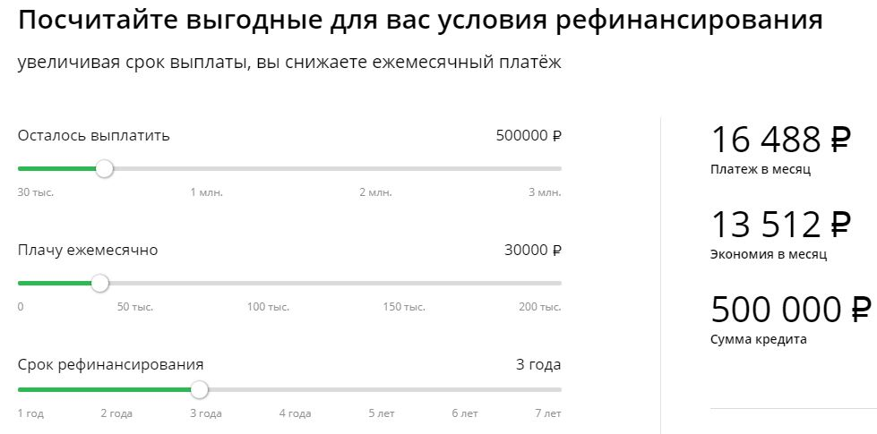 Кредитный калькулятор рефинансирования онлайн рассчитать
